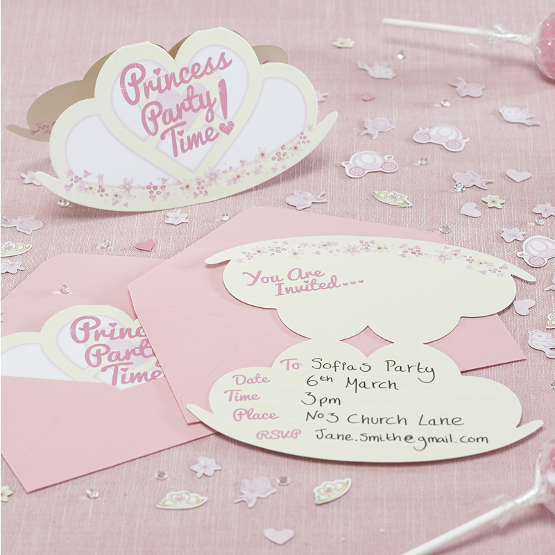 Princess Party - Invitations - Princess Party | PartyThisWay | Party ...