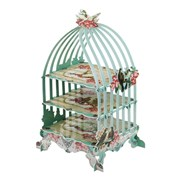 Picture of Pastries & Pearls - Three Tiered Birdcage Cakestand