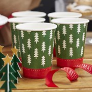 Picture of Christmas Patterns - Paper Cups