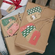 Picture of Christmas Patterns - Luggage Tags