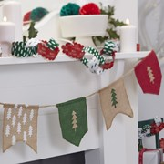 Picture of Christmas Patterns - Hessian Bunting