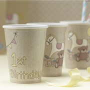Picture of Rock-a-bye Baby - Paper Cups - 1st Birthday