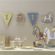 Picture of Rock-a-bye Baby - Bunting - 1st Birthday Blue Boys