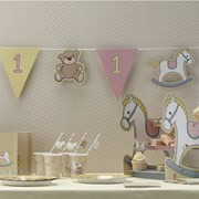 Picture of Rock-a-bye Baby - Bunting - 1st Birthday Pink Girls