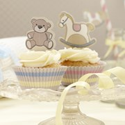Picture of Rock-a-bye Baby - Cupcake Cases & Toppers