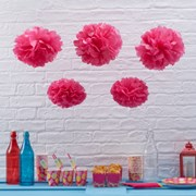 Picture of Summer Fruits - Tissue Paper Pom Poms - Hot Pink