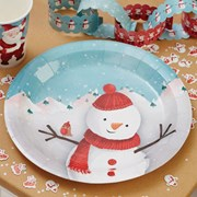Picture of Christmas Snowman - Plate