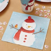 Picture of Christmas Snowman - Napkin