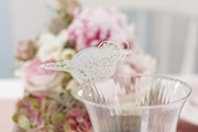 Picture of Vintage Lace - Place Card for Glass - White