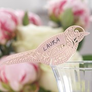 Picture of Vintage Lace - Place Card for Glass - Pink