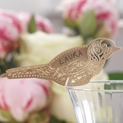 Picture of Vintage Lace - Place Card for Glass - Gold