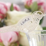 Picture of Vintage Lace - Place Card for Glass - Ivory