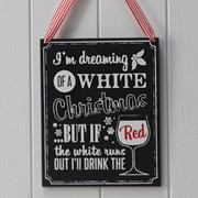 Picture of Vintage Noel - Wooden Chalkboard Wine Sign