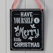 Picture of Vintage Noel - Wooden Chalkboard Very Merry Christmas Sign