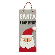 Picture of Waiting for Santa - Stop Here Sign