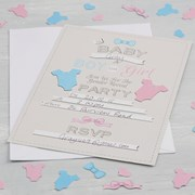 Picture of Little Lady or Mini Mister - Invitations - Gender Reveal