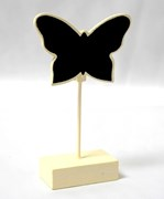 Picture of Butterfly Place Card Holder Chalk Board in Ivory