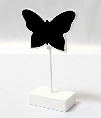 Picture of Butterfly Place Card Holder Chalk Board in White