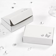 Picture of Elegant Butterfly - Cake Box - White/Silver